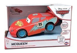 Relâmpago Mcqueen - Veículo De Fricção com Luz e Som  - Disney Cars - Toyng