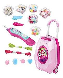 Maleta Infantil - Mania de Biju - 2 em 1 - Dm Toys
