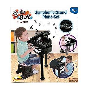 Piano Sinfonia Infantil - Beat Bop - Preto - YesToys