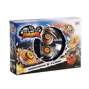 Pião Lançador - Batalha Infinity Nado - Battle Warriors x Flame - Candide