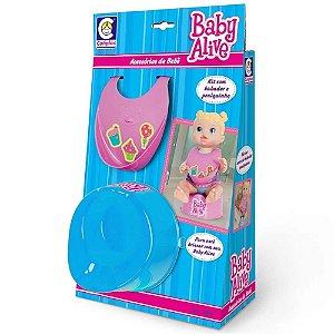 Baby Alive - Acessórios de Bebê - Kit Babador e Piniquinho - Cotiplás