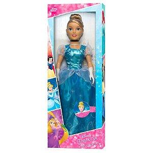 Boneca Gigante Cinderela - Princesas Disney - 78cm - Baby Brink