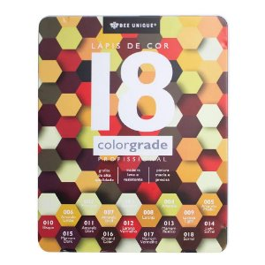 Caixa de Lápis de Cor Profissional - Color Grade - Tons de Amarelo - Bee Unique