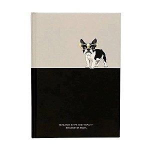 Caderno Brochura Pautado - Bulldog Francês - A5 80g - 80 Folhas - Bee Unique