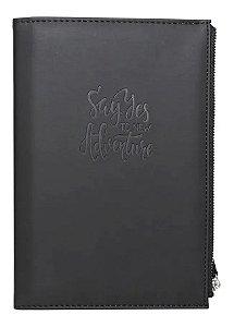 Caderno Pautado com Estojo - Preto - 80 Folhas - 80g - Bee Unique