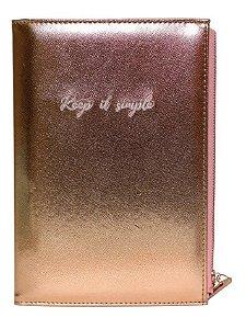 Caderno Pautado com Estojo - Rose - 80 Folhas - 80g - Bee Unique