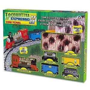 Locomotiva Expresso II - Com Túnel - Braskit