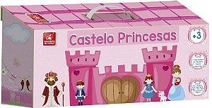 Maleta Castelo Princesas - Cenário - 17 peças - Brincadeira de Criança