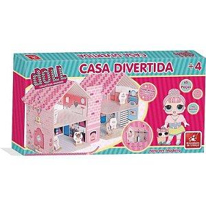Casa Divertida Doll - 67 peças - Madeira - Brincadeira de Criança