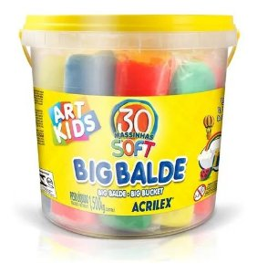 Big Balde - Massinhas Soft - 30 Unidades - Art Kids - Acrilex