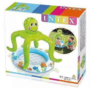 Piscina Infantil - Polvo com Cobertura - 45 Litros - Intex