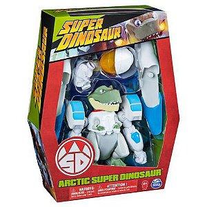 Figura Articulada Deluxe - Super Dinosaur - Arctic Super Dinosaur - Multikids