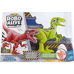 Robô Alive - Dinossauro Raptor com movimentos - Candide