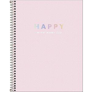 Caderno Espiral Happy - Capa Dura - A4 - 90 Gramas - 80 Folhas - Tilibra