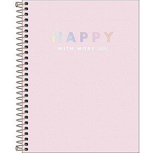 Caderno Espiral Happy - Capa Dura - Colegial - 90 Gramas - 80 Folhas - Tilibra