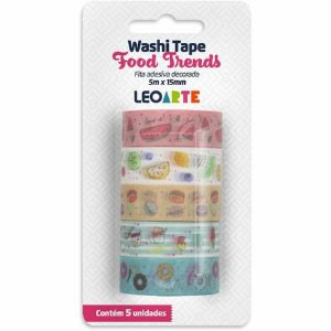 Fita Adesiva Decorada - Wash Tape - Food Trends - Leonora