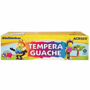 Tinta Tempera Guache - 12 Cores - Acrilex