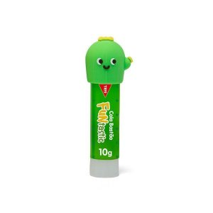 Cola Bastão - Funtastic - Tampinhas Divertidas - Verde - 10g - Tris