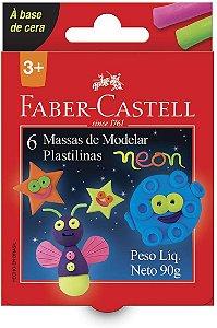 Massa de Modelar - Neon - 6 Cores - 90g - Faber Castell
