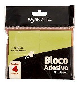 Bloco Auto Adesivo - Post-it - Amarelo - 4 Blocos - 38x50mm - Jocar Office - Leonora