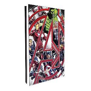 Pasta Catálogo - Avengers - Vingadores - Lombo Ajustável - 10 plásticos - Dac