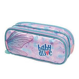 Estojo Duplo - Baby Alive Fairies - Lilás - Pacific