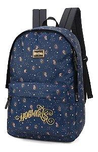Mochila de Costas - Harry Potter - Hogwarts - Azul - Luxcel