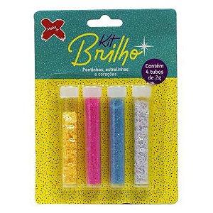 Kit Brilho Glitter - Pontinhos, Estrelinhas e Corações - Make +