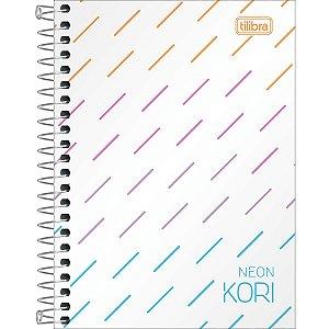 Caderneta Espiral - 1/8 sem Pauta - Neon Kori - 80 Folhas - Tilibra
