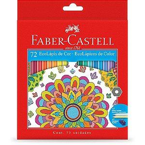 Caixa de Lápis de Cor - Ecolápis - 72 cores - Faber Castell