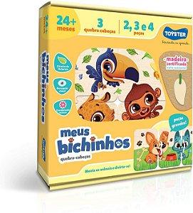 Quebra-Cabeça - Meus Bichinhos - Toyster