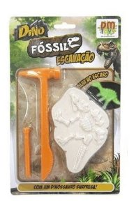 Dino Fóssil Escavação - com Ferramentas - DM Toys