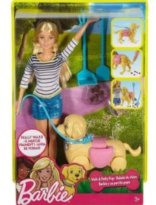 Boneca Barbie - Passeio com o Cachorro - Mattel