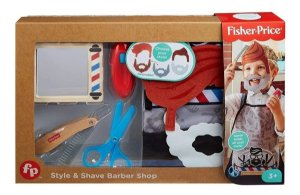Conjunto Brincando de Barbearia - Fisher Price - Mattel