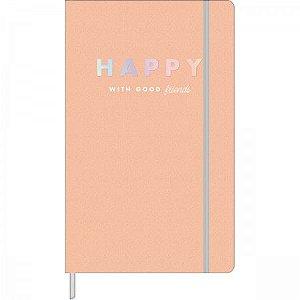 Caderno Pontilhado Happy - Costurado - 90g - 80 folhas - Tilibra