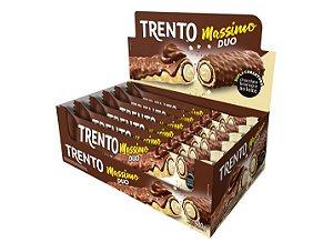 Trento Massimo Duo chocolate ao leite e branco com 16 unidades - Peccin