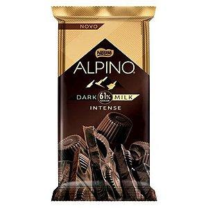 Tablete Chocolate Alpino Dark 61% cacau Milk Intense  85g - Nestlé