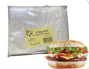 Saco plástico para X-salada com 100 unidades (20x15cm) - TP