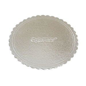 Cake Board Premium Prata Redondo N° 38 - Curifest