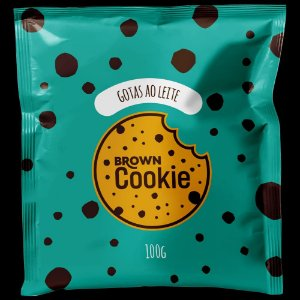 Cookie Gotas ao Leite 100g - Brown Cookie