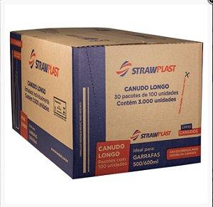 Caixa Canudo Longo Garrafa Strawplast c/ 3000 un. - 30 pct c/100 un.