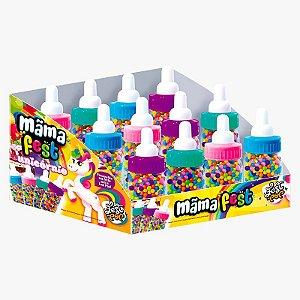 Brinquedo com Confeito Mama Fest Sortido Unicórnio com 12 unidades de 45g - União Alimentos