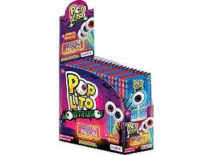 Pirulito Pop Lito Monstrinho com cabo de Neon 15 unidades de 12g - Confest
