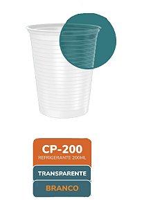 Copo descartável linha transparente 200 ml com 100 unidades - Minaplast