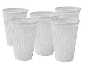 Copo descartável Branco frisado 80ml com 100 unidades - Minaplast