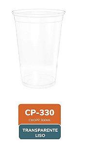Copo Transparente Liso 330ml com 50 unidades - Minaplast