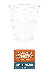 Copo  Whisky Transparente Liso 250ml com 50 unidades -  Minaplast