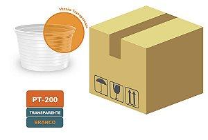 Caixa Pote Descartável Transparente frisado 200ml  com 1000 unidades - Minaplast