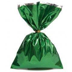 Saco para Presente cor Verde metalizado 25x37cm com  50 unidades - Packpel