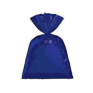 Saco para Presente cor Azul metalizado 25x37cm com 50 unidades - Packpel